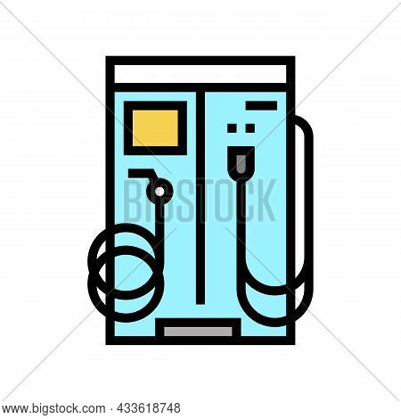 Vacuum Cleaner And Water For Wash Car Station Equipment Color Icon Vector. Vacuum Cleaner And Water