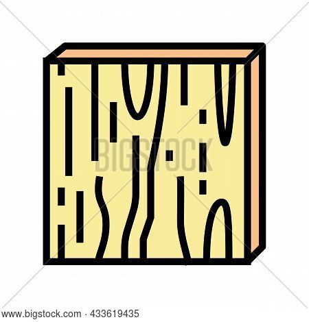 Plywood Timber Color Icon Vector. Plywood Timber Sign. Isolated Symbol Illustration