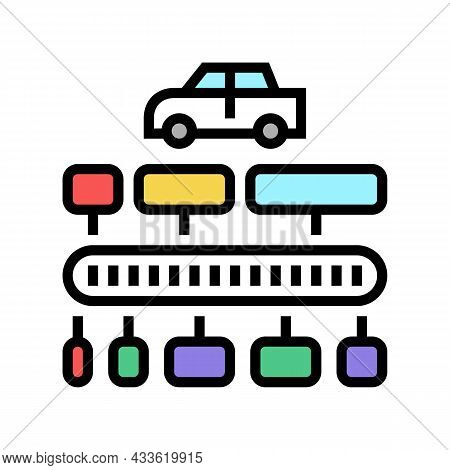 Vin Code Decoder Color Icon Vector. Vin Code Decoder Sign. Isolated Symbol Illustration