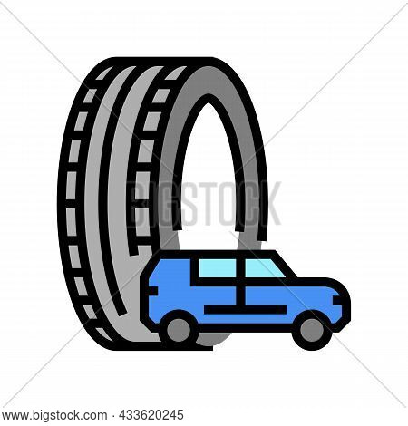 Truck Or Suv Tires Color Icon Vector. Truck Or Suv Tires Sign. Isolated Symbol Illustration