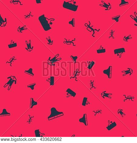 Set Swimming Trunks, Swimmer, Wetsuit For Scuba Diving And Scuba Diver On Seamless Pattern. Vector