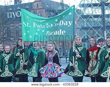Participants At St. Patrick's Day Parade