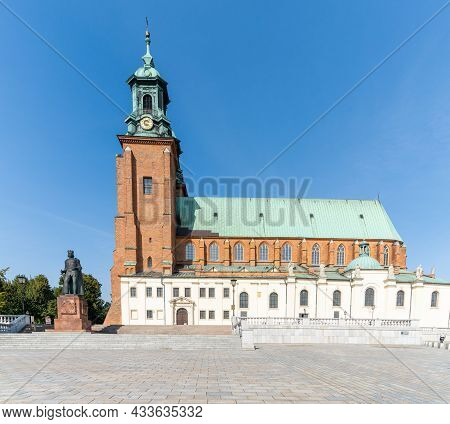 Horizontal View Of The Royal Gniezno Cathedral In Central Poland