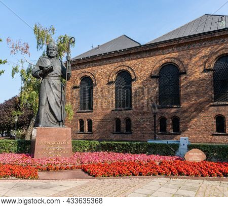 Statue Of Saint Wojciech In Front Of The Church Of The Holy Trinity In Gniezno