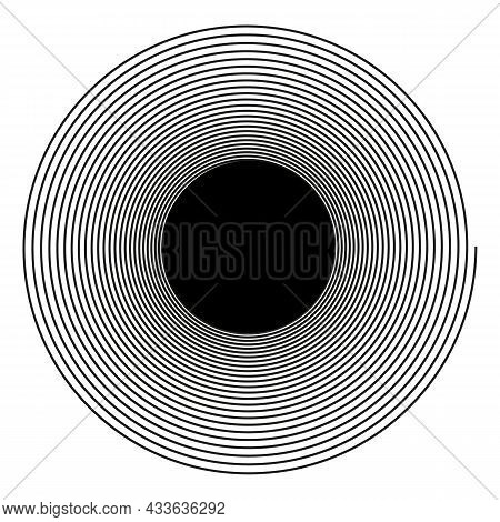 Spiral With Radial Rays, Twirl, Twisted Effect