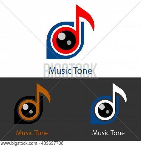 Musical Eye Tone Logo Icon For Music Studios, Music Labels, Music T-shirts, Music Apps, Music Websit