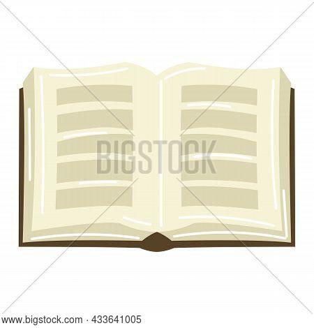 Illustration Of Torah Book. Jewish Law Parchment.