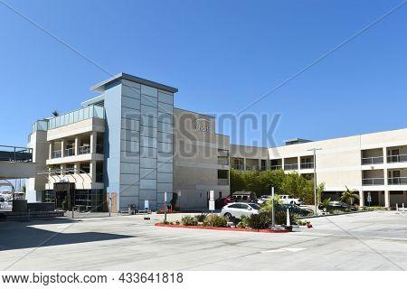 REDONDO BEACH, CALIFORNIA - 15 SEPT 2021: Shade Hotel a luxury boutique hotel on the waterfront in Redondo Beach.