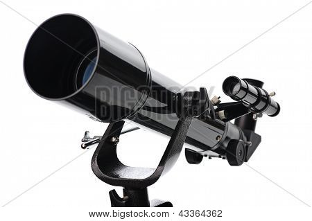 telescope isolated on white background