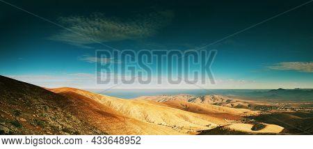 Mountain landscape on Fuerteventura island