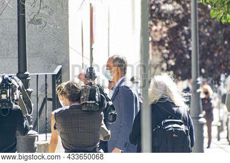 Madrid, Spain - September 21, 2021. King Felipe Vi Of Spain In An Act In Madrid., Spain. Europe. Hor