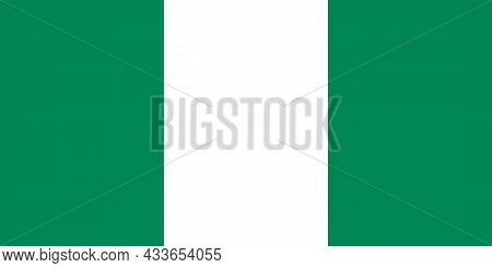 National Flag Of Federal Republic Of Nigeria Original Size And Colors Vector Illustration, Flag Of N