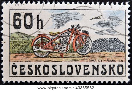 image of a vintage motorcycle JAWA 175 year 1945