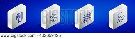 Set Isometric Line Iv Bag, Medicine Pill Or Tablet, Pills Blister Pack And Medical Prescription Icon