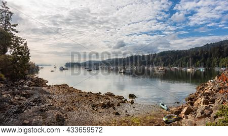 Ganges, Salt Spring Island, British Columbia, Canada - August 23, 2021: Scenic View Of Sailboats And