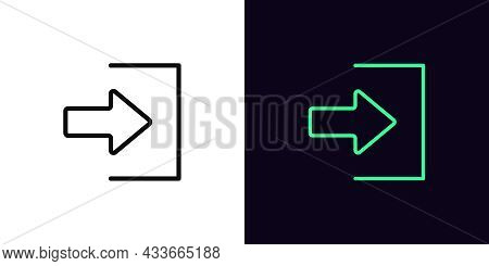 Outline Login Icon, With Editable Stroke. Linear Join Sign, User Entry Pictogram. Online Access, Log