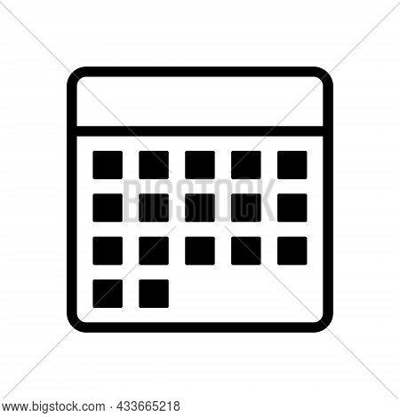 Calendar Icon. Calendar Icon Vector Design Illustration. Calendar Icon Simple Sign. Calendar Icon Fl