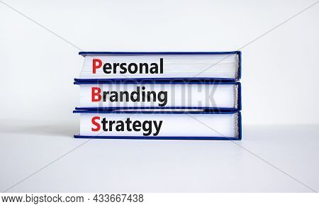 Pbs, Personal Branding Strategy Symbol. Concept Words Pbs, Personal Branding Strategy On Books On A