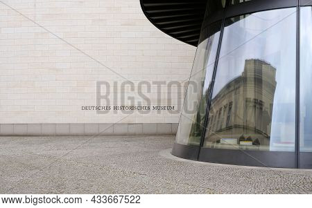 Berlin, Germany, September 17, 2021, German Historical Museum With Conical Prefabricated Staircase
