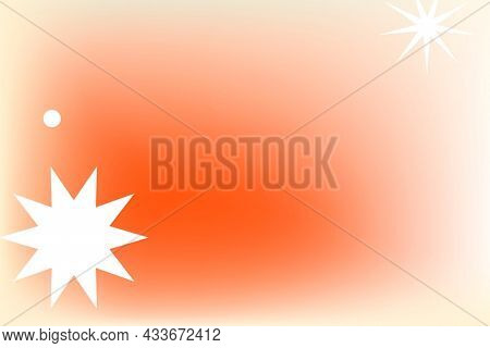 Abstract memphis orange background gradient with geometric shapes