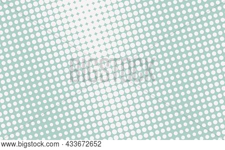 Pop Art Creative Concept Colorful Comics Book Magazine Cover. Polka Dots Blue And White Background.