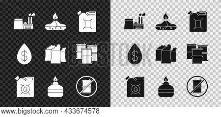Set Oil Industrial Factory Building, Alcohol Spirit Burner, Canister For Gasoline, Motor Machine Oil