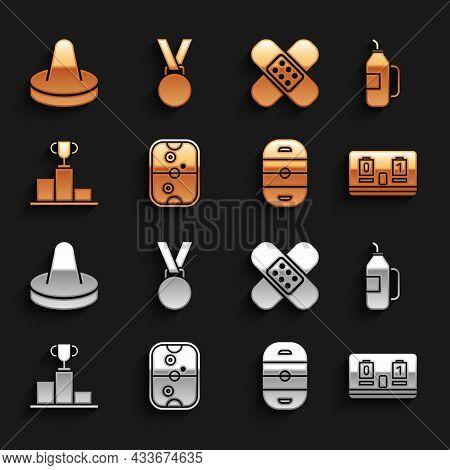 Set Air Hockey Table, Fitness Shaker, Hockey Mechanical Scoreboard, Ice Rink, Over Sports Winner Pod