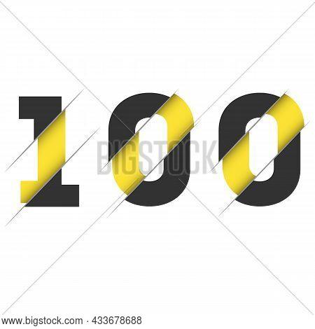 100 1 0 Number Logo Design With A Creative Cut. Creative Logo Design.