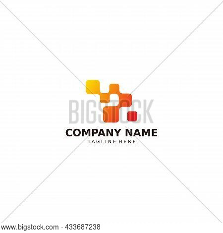 Vector Design Element For Your Company Logo, Abstract Blue Icon. Modern Logotype, Business Company T
