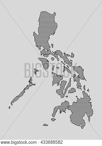 Vector Map Philippines, Template Asia Outline Country