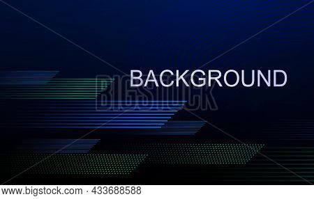 Dark Blue Illustration With Gradient, Thin Horizontal Lines