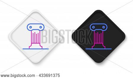 Line Law Pillar Icon Isolated On White Background. Ancient Column. Colorful Outline Concept. Vector