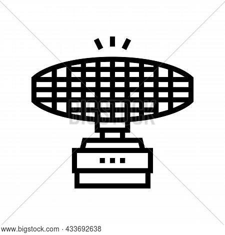 Radar Equipment Line Icon Vector. Radar Equipment Sign. Isolated Contour Symbol Black Illustration
