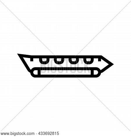 Banana Boat Line Icon Vector. Banana Boat Sign. Isolated Contour Symbol Black Illustration