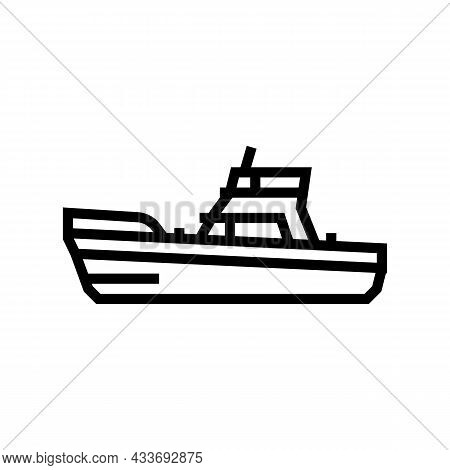 Game Boat Line Icon Vector. Game Boat Sign. Isolated Contour Symbol Black Illustration
