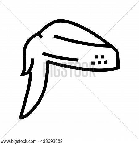 Wing 2 Joint Chicken Line Icon Vector. Wing 2 Joint Chicken Sign. Isolated Contour Symbol Black Illu