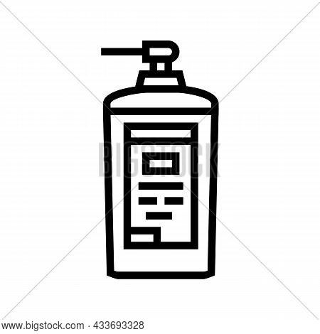 Concentrated Detergent With Dispenser Line Icon Vector. Concentrated Detergent With Dispenser Sign.