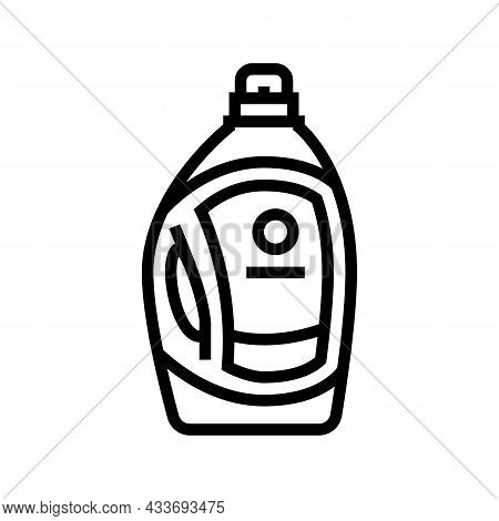 Liquid Detergent Bottle Line Icon Vector. Liquid Detergent Bottle Sign. Isolated Contour Symbol Blac