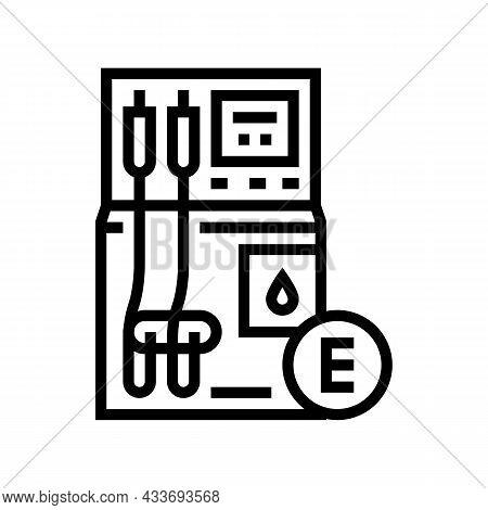 Ethanol Gas Station Line Icon Vector. Ethanol Gas Station Sign. Isolated Contour Symbol Black Illust