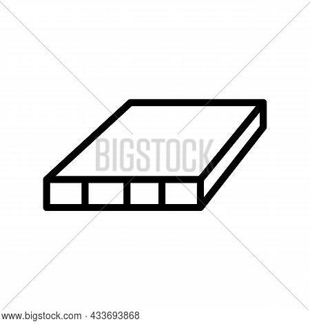 Flush Door Shutters Line Icon Vector. Flush Door Shutters Sign. Isolated Contour Symbol Black Illust