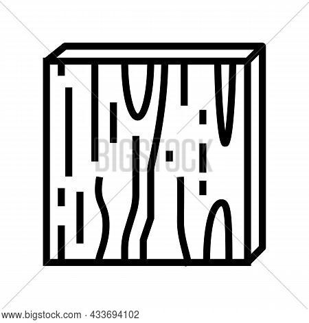 Plywood Timber Line Icon Vector. Plywood Timber Sign. Isolated Contour Symbol Black Illustration