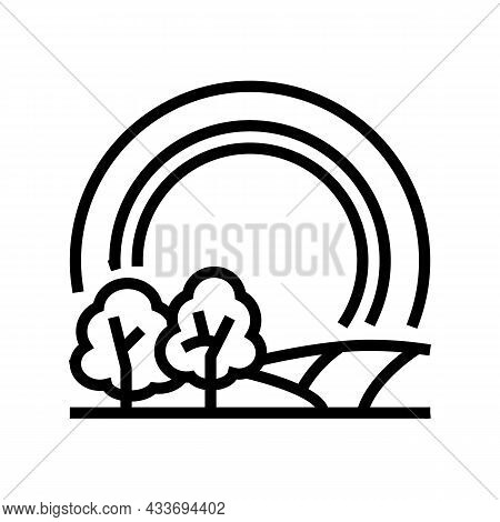 Touring Tires Line Icon Vector. Touring Tires Sign. Isolated Contour Symbol Black Illustration