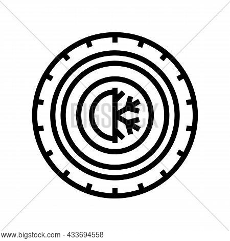 All Season Tires Line Icon Vector. All Season Tires Sign. Isolated Contour Symbol Black Illustration