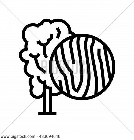 Birch Wood Line Icon Vector. Birch Wood Sign. Isolated Contour Symbol Black Illustration