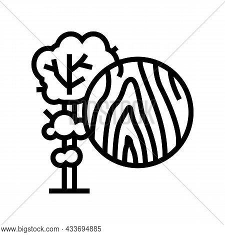 Teak Wood Line Icon Vector. Teak Wood Sign. Isolated Contour Symbol Black Illustration