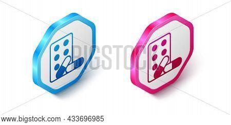 Isometric Sports Doping, Anabolic Drugs With Dumbbell Icon Isolated On White Background. Anabolic St