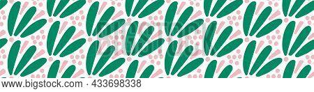 Playful Fresh Doodle Shape Seamless Border. Modern Trendy Minimal Retro Style Motif Edging Trim. Han