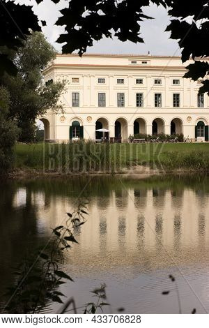 The Pohansko Empire Hunting Lodge Is Located In The Lednice-valtice Area. The Castle And Its Reflect