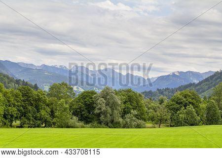 Idyllic Scenery At The Allgaeu Region In Swabia, Germany