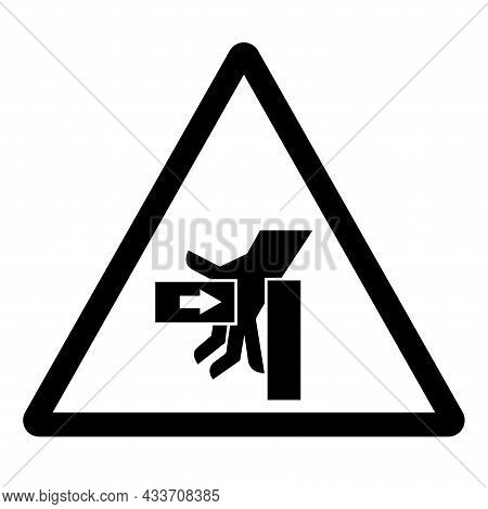 Hand Crush Force From Left Symbol Sign, Vector Illustration, Isolate On White Background Label .eps1